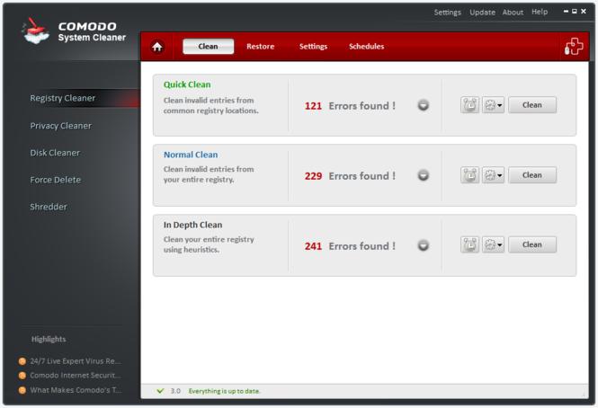 Comodo System-Cleaner Screenshot 2