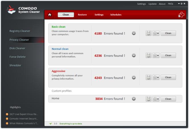 Comodo System-Cleaner Screenshot 3