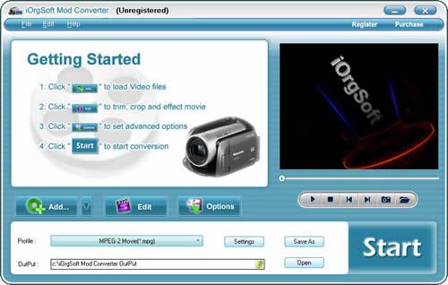 iOrgSoft Mod Converter Screenshot