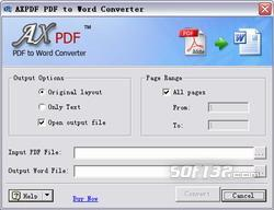 AXPDF PDF to TEXT Converter Screenshot 2