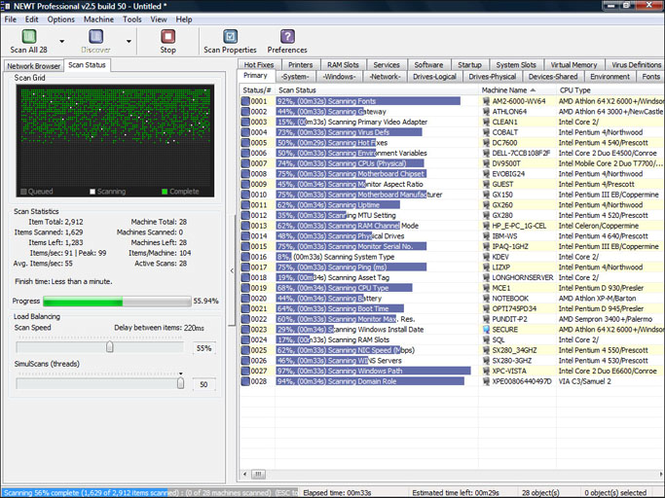 NEWT Freeware Network Inventory Screenshot