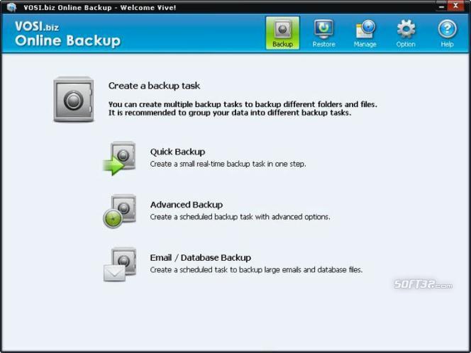 VOSI.biz Online Backup Screenshot 3