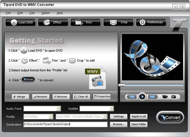 Tipard DVD to WMV Converter Screenshot 2