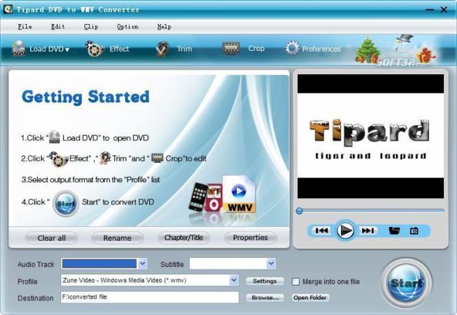 Tipard DVD to WMV Converter Screenshot 3