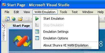 Shunra VE Desktop for MS Visual Studio Screenshot 1