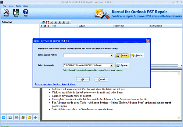 Repair Outlook 2003 Screenshot