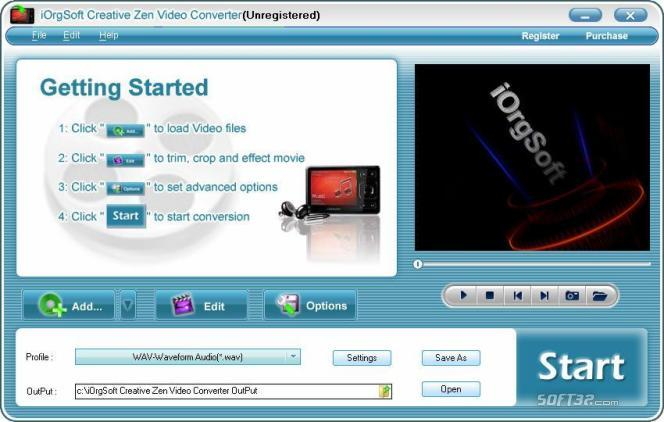 iOrgSoft Creative Zen Video Converter Screenshot 3