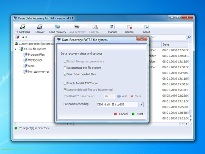 Raise Data Recovery for FAT Screenshot