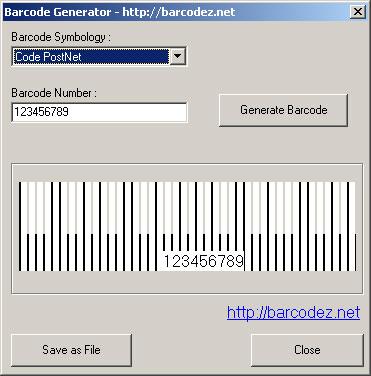Barcodez Barcode Generator Screenshot 1