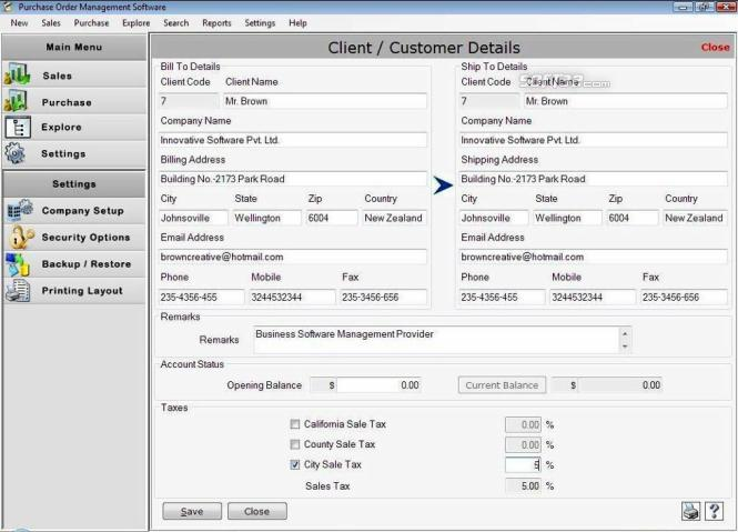 Purchase Order Templates Screenshot 3