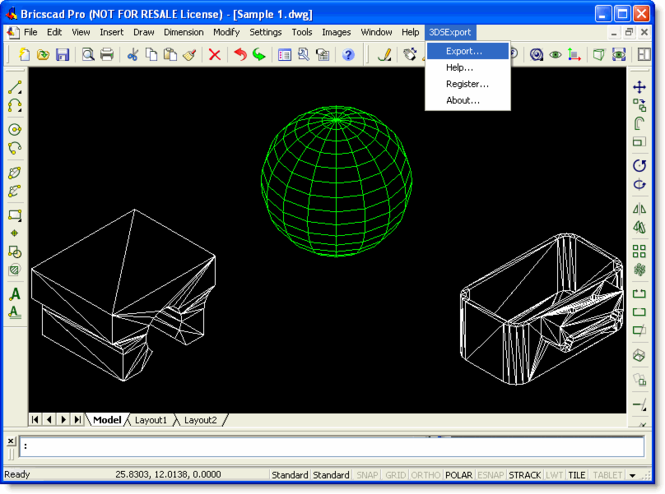 3DS Export for Bricscad Screenshot 1