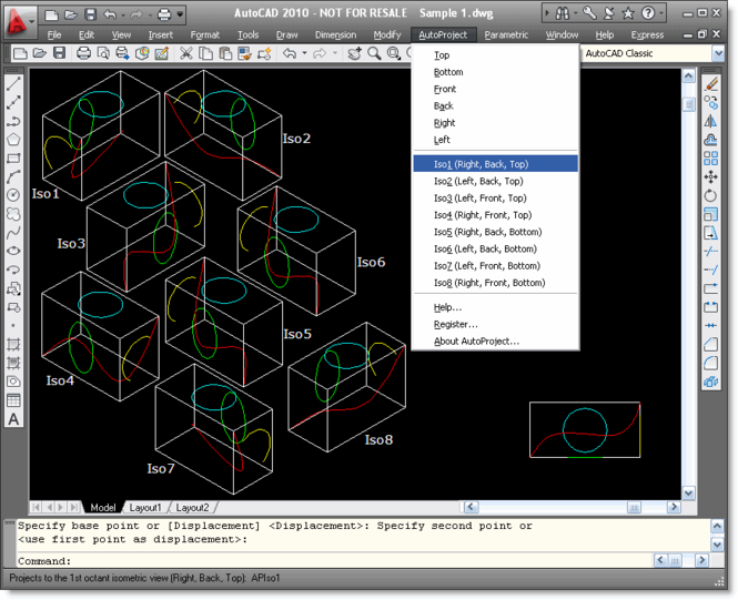 AutoProject for AutoCAD Screenshot