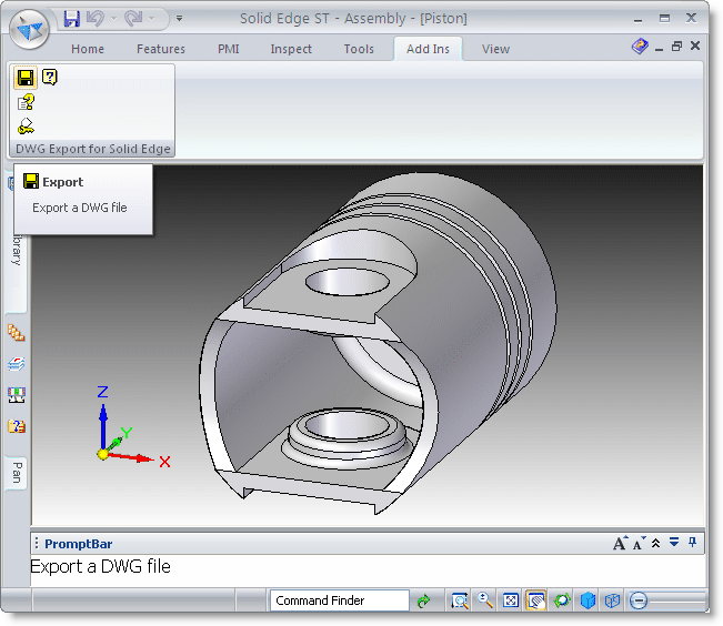 DWG Export for Solid Edge Screenshot 1