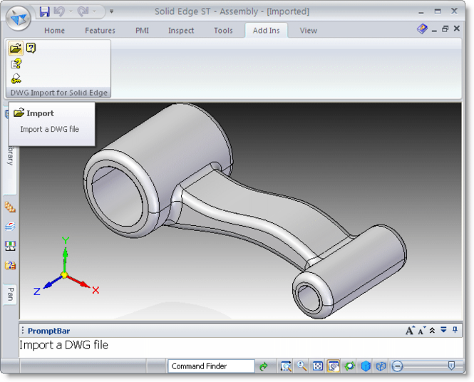 DWG Import for Solid Edge Screenshot
