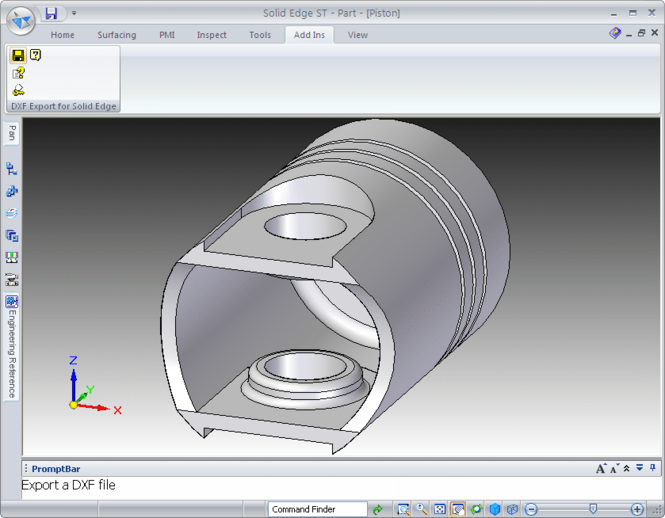 DXF Export for Solid Edge Screenshot