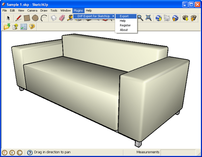 DXF Export for SketchUp Screenshot 1
