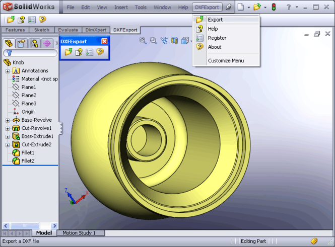 DXF Export for SolidWorks Screenshot 1