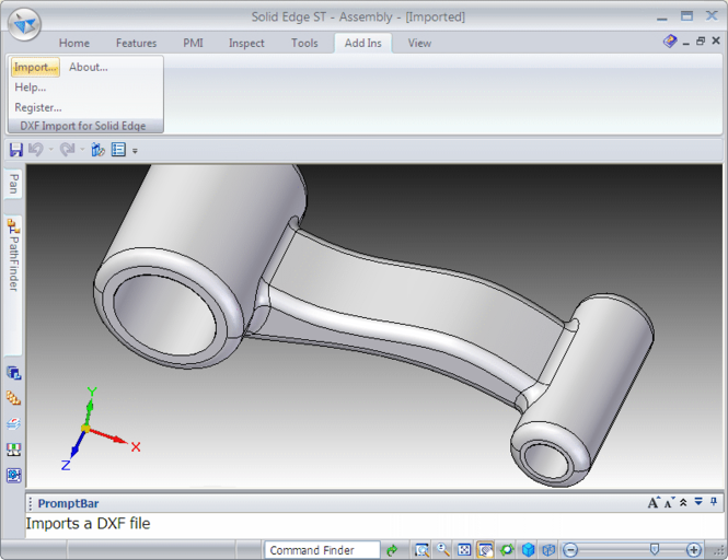 DXF Import for Solid Edge Screenshot 1