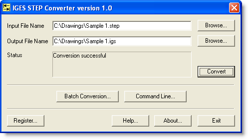 IGES STEP Converter Screenshot