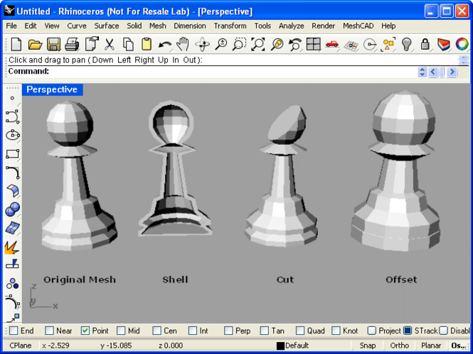 MeshCAD for Rhino Screenshot