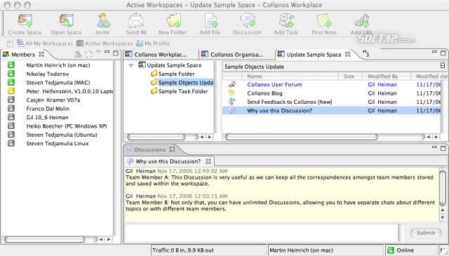Collanos Workplace Mac OS X Screenshot 2