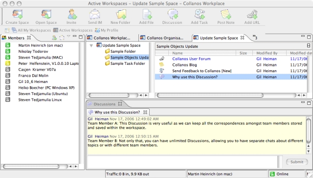 Collanos Workplace Mac OS X Screenshot