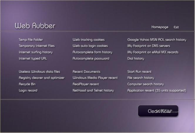 Web Rubber Screenshot