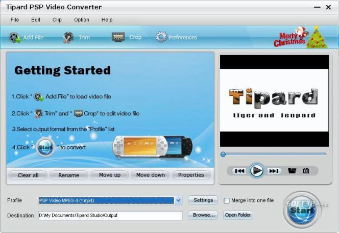 Tipard PSP Video Converter Screenshot 2