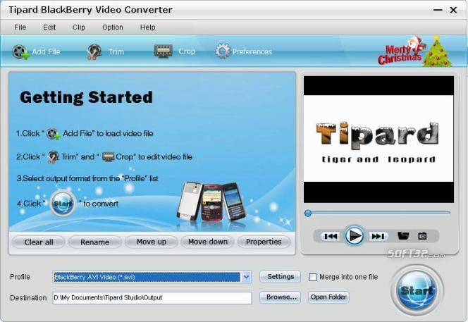 Tipard BlackBerry Video Converter Screenshot 2