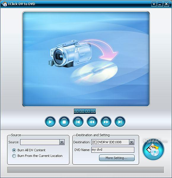 XsterSoft 1Click DV to DVD Screenshot 1