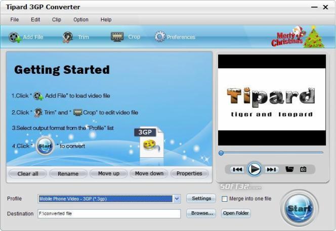 Tipard 3GP Converter Screenshot 2