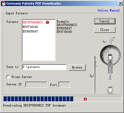 Germany Patents PDF Downloader Screenshot