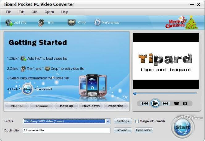 Tipard Pocket PC Video Converter Screenshot 2