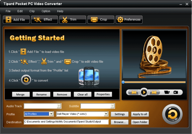 Tipard Pocket PC Video Converter Screenshot 3