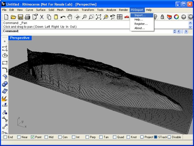 PIX Import for Rhino Screenshot