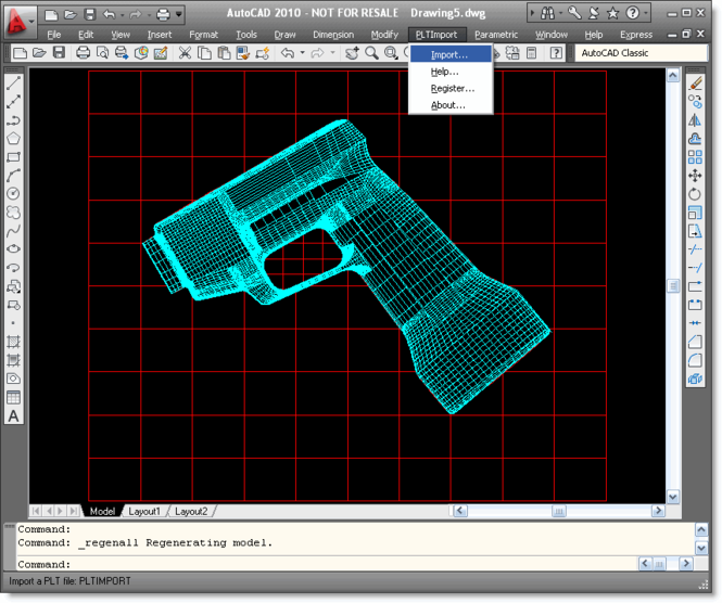 PLT Import for AutoCAD Screenshot 1