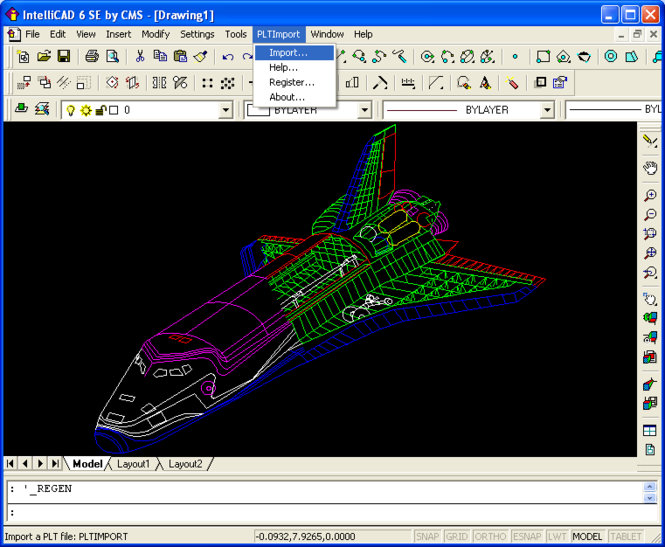 PLT Import for IntelliCAD Screenshot 1