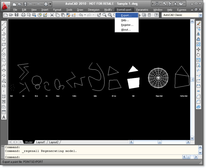 Points Export for AutoCAD Screenshot 1