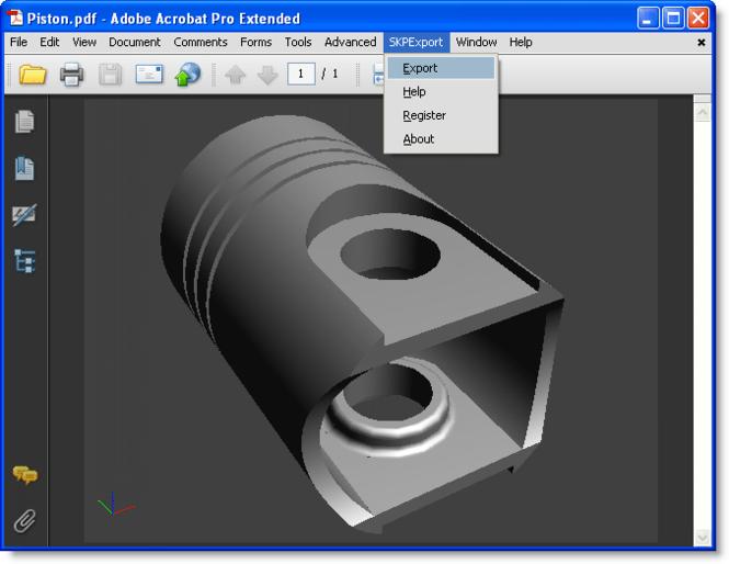 SKP Export for Acrobat Screenshot 1