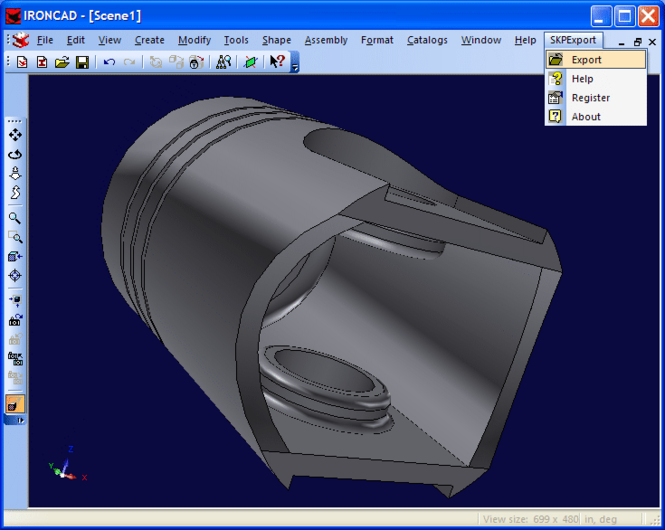 SKP Export for IRONCAD Screenshot