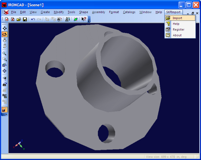 SKP Import for IRONCAD Screenshot