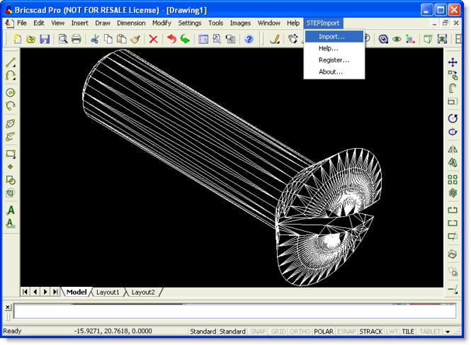 STEP Import for Bricscad Screenshot