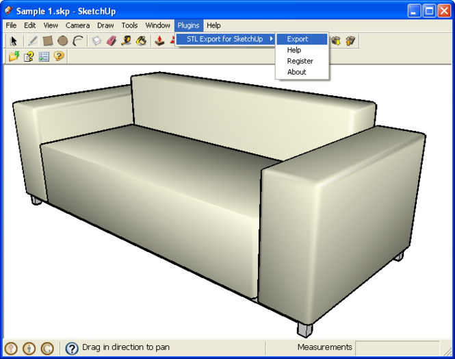 STL Export for SketchUp Screenshot