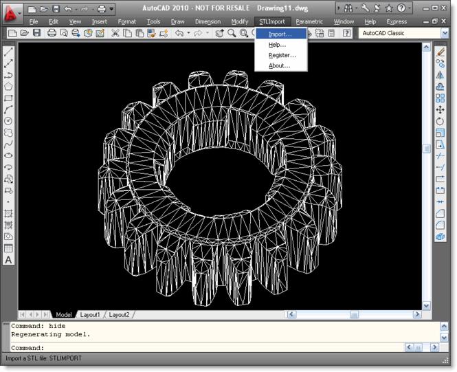 STL Import for AutoCAD Screenshot 1