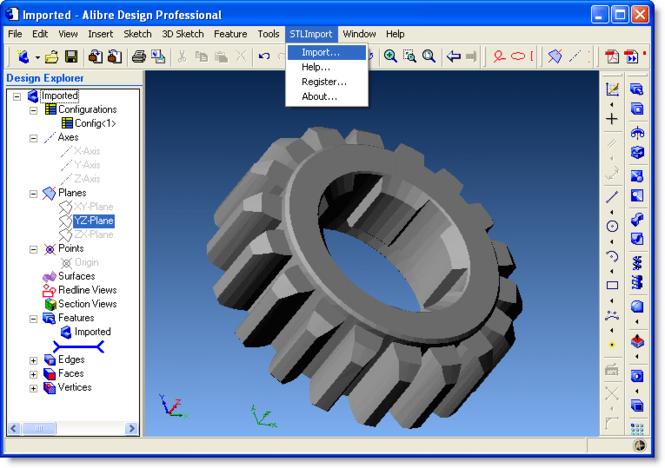 STL Import for Alibre Design Screenshot 1
