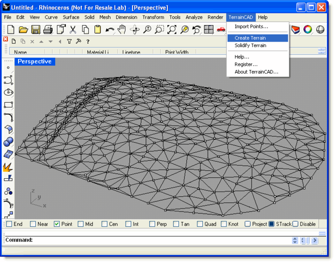 TerrainCAD for Rhino Screenshot 1