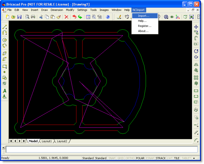 NC Import for Bricscad Screenshot 1