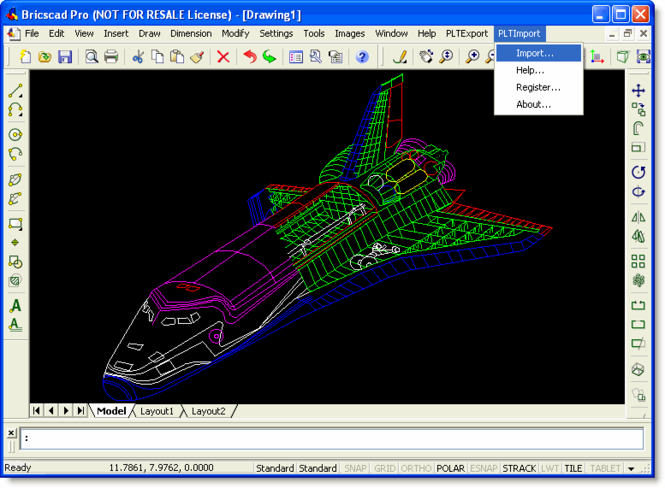 PLT Import for Bricscad Screenshot