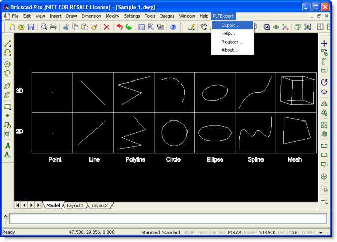 PLT Export for Bricscad Screenshot 1