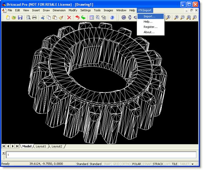 VTK Import for Bricscad Screenshot